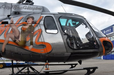 The Maximum View Kit provides H125/AS350 series aircraft pilots with an uninhibited view below and to the right hand side. Swiss Rotor Solutions Photo