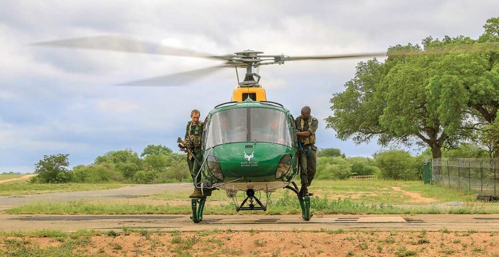 Kruger National Park in South Africa uses Airbus H125 and AS350 B3 helicopters to patrol an area of about two million hectares. Maj Dei Enslin Photo