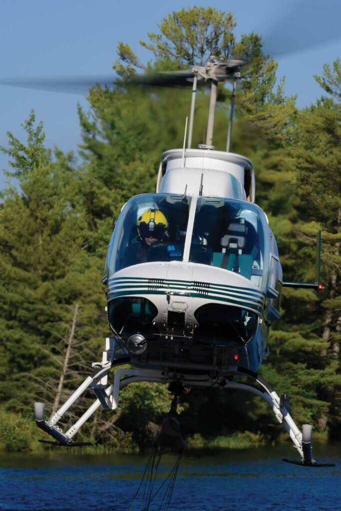 Heli Muskoka's Bell 206L-4 LongRanger. McMackin said the aircraft is popular with the Ontario Ministry of Natural Resources and Forestry for use in surveys.