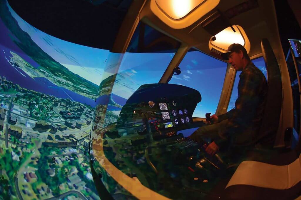 The helicopter industry may have been slow to embrace the use of simulators in training, but their benefits are now appreciated across a huge variety of operational sectors. Mike Reyno Photo