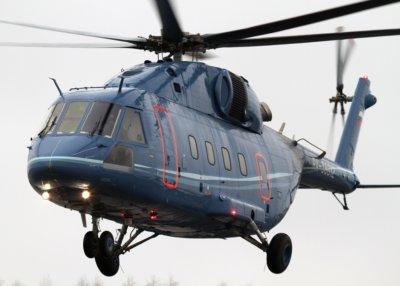 Mi-38 helicopter in flight
