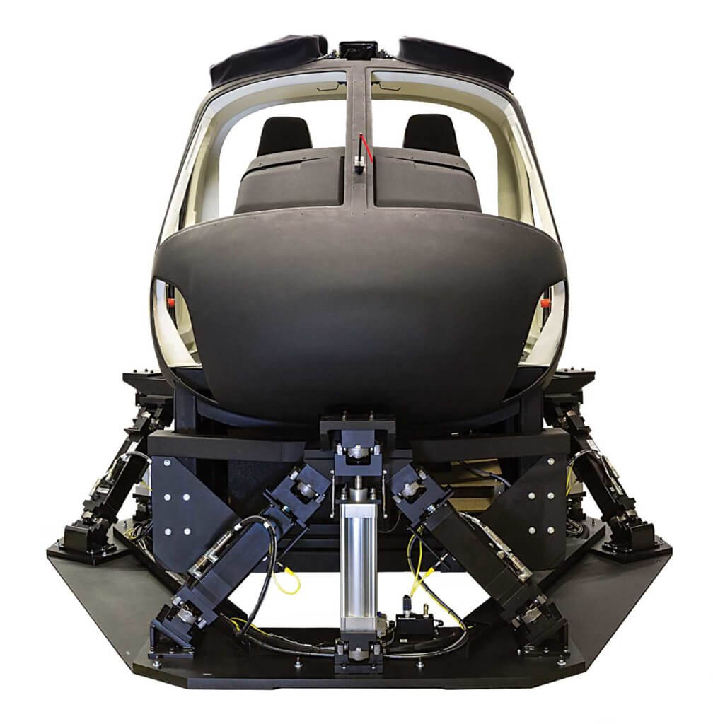 A Frasca AS350 Level 7 flight training device.