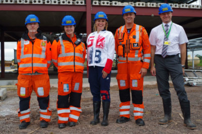 Stephanie Millward visited the site of the new airbase on Aug. 11 at Outmarsh Farm, Semington, near Melksham, to see the progress of the construction. WAA Photo