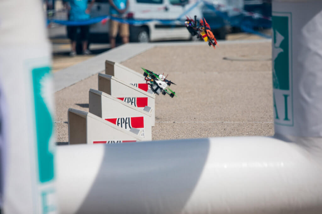 Drone racing is a growing sport with a young demographic. FAI Photo