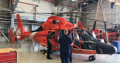 S.A.F.E. Structure designs will design and manufacture custom maintenance platforms for Coast Guard MH-65 helicopters in Elizabeth City. S.A.F.E. Photo