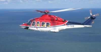 CHC will use a combination of Leonardo AW139 and AW169 helicopters to support the first phase of DONG Energy's Hornsea Project One offshore wind farm. CHC Photo