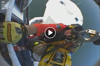 Maritime & Coastguard Agency footage of a tower rescue on Sept. 5, 2017.