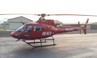 Reach Air Medical will base a new Airbus H125 in the Bozeman area. Reach Photo