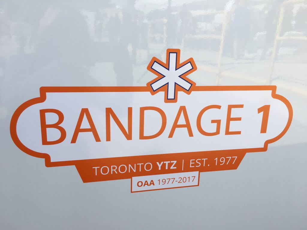 Closeup of Bandage 1 decal