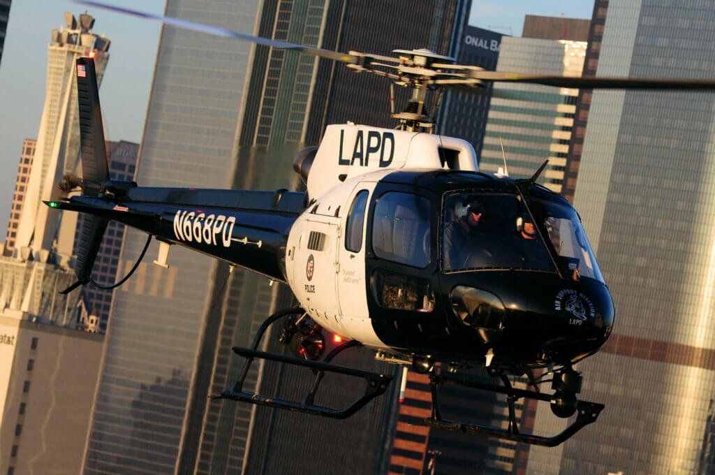 An Airbus AS350 B2 from the Los Angeles Police Department.
