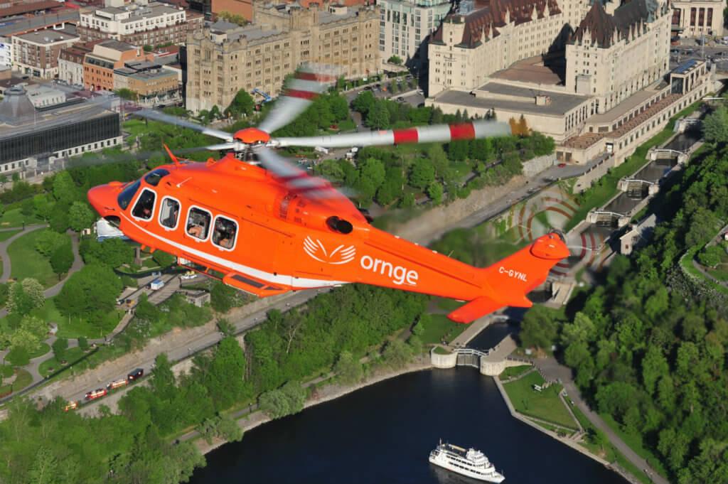 Leonardo AW139 in flight