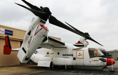 Six of the American Helicopter Museum's helicopters are available for adoption, including this Bell-Boeing V-22 Osprey. American Helicopter Museum Photo