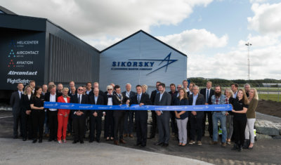 The Sikorsky Forward Stocking Location in Stavanger opened in September 2016, and recently expanded from a 3,200-square-foot warehouse to more than 5,000 square feet. Sikorsky Photo