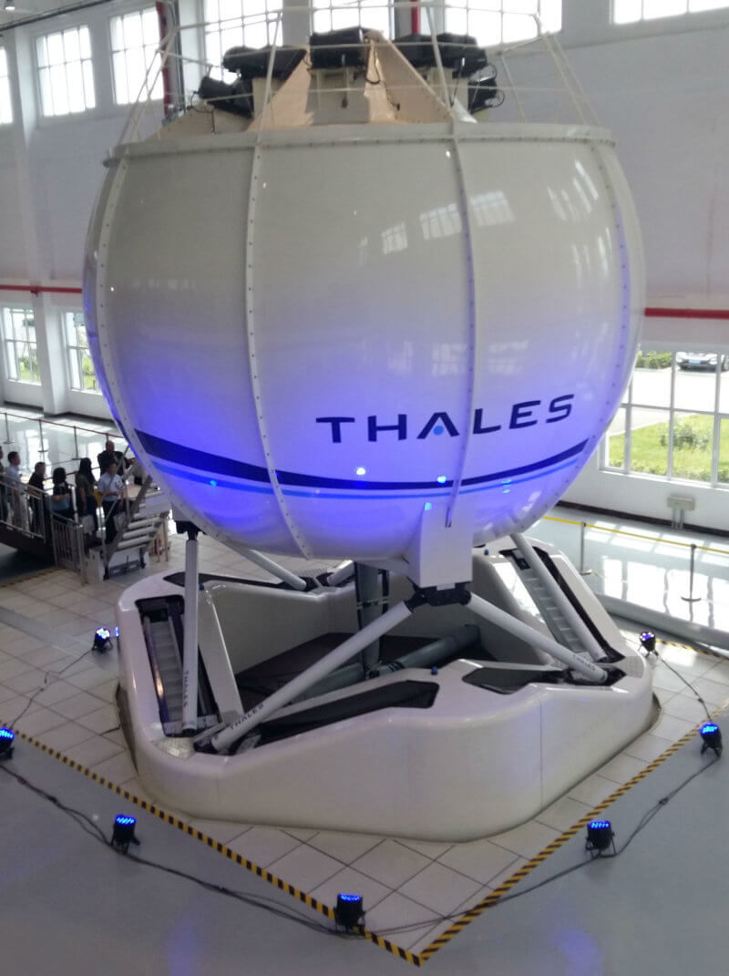 Outside view of simulator