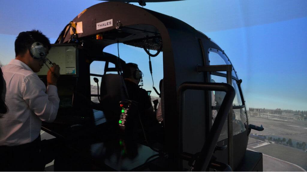 Inside view of simulator
