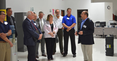 The Canadian Chamber of Commerce President and CEO Perrin Beatty was among the delegation attending a Texas Trade Mission roundtable discussion at Vector Aerospace's Grapevine, Texas, facility. Vector Aerospace Photo