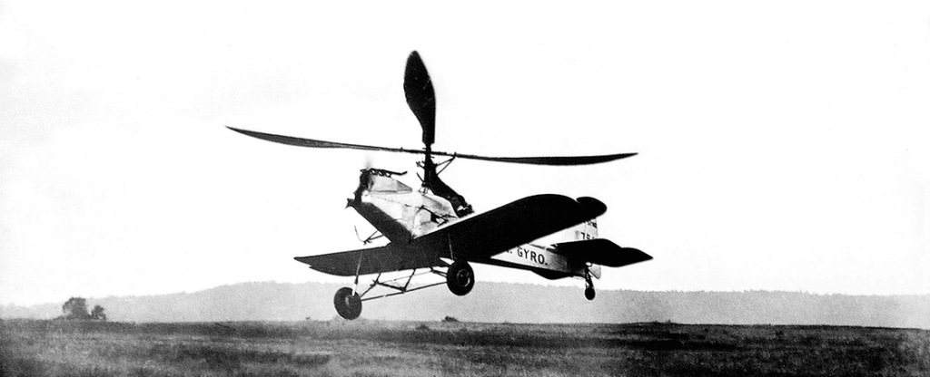 This image dated August 5, 1931 shows Wilford's strange-looking twin-propeller, single-seat, open-cockpit ship on its maiden flight.