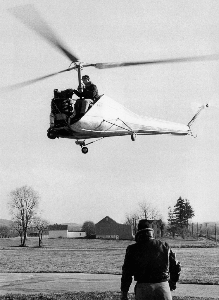 a 2-place prototype called the HK-1 successfully completed its maiden flight in November 1957, becoming the world's first helicopter to successfully utilize a multi-vee belt drive for both main and tail rotors.