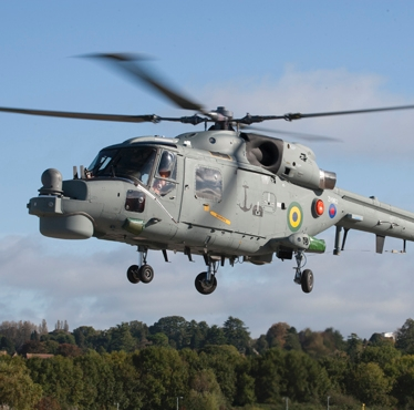 The Super Lynx Mk21B helicopter has had its maiden flight since undergoing modernization; changes include numerous innovative digital instrumentation.