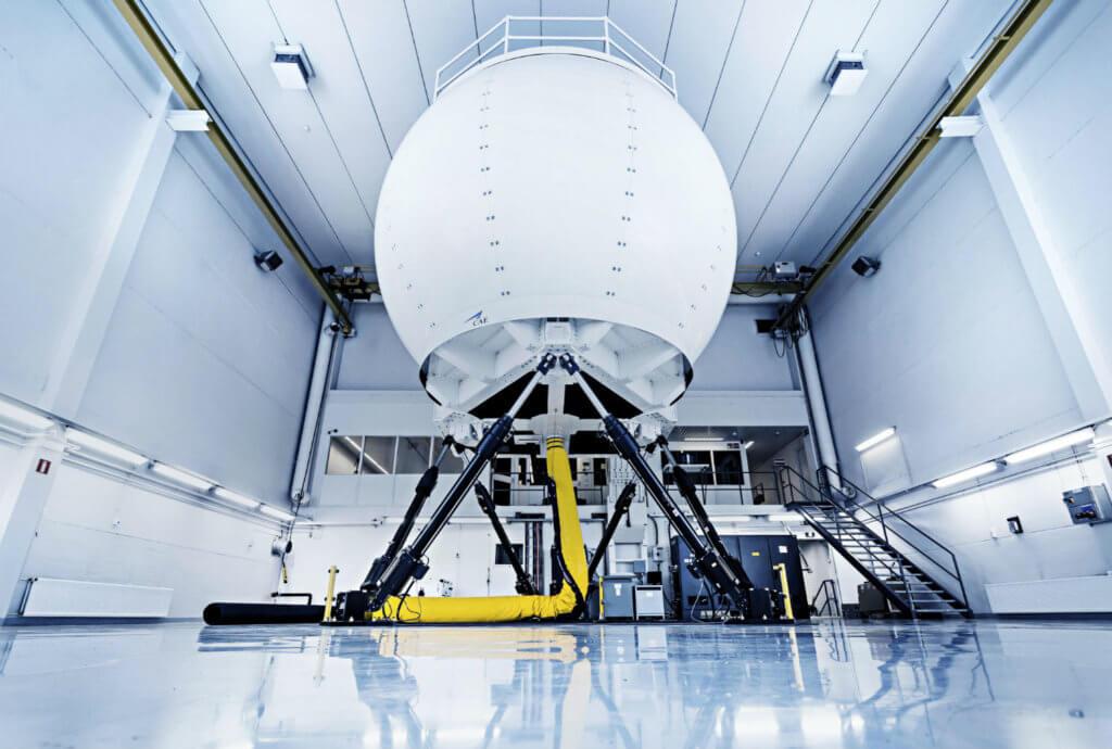 Photo of H125 simulator