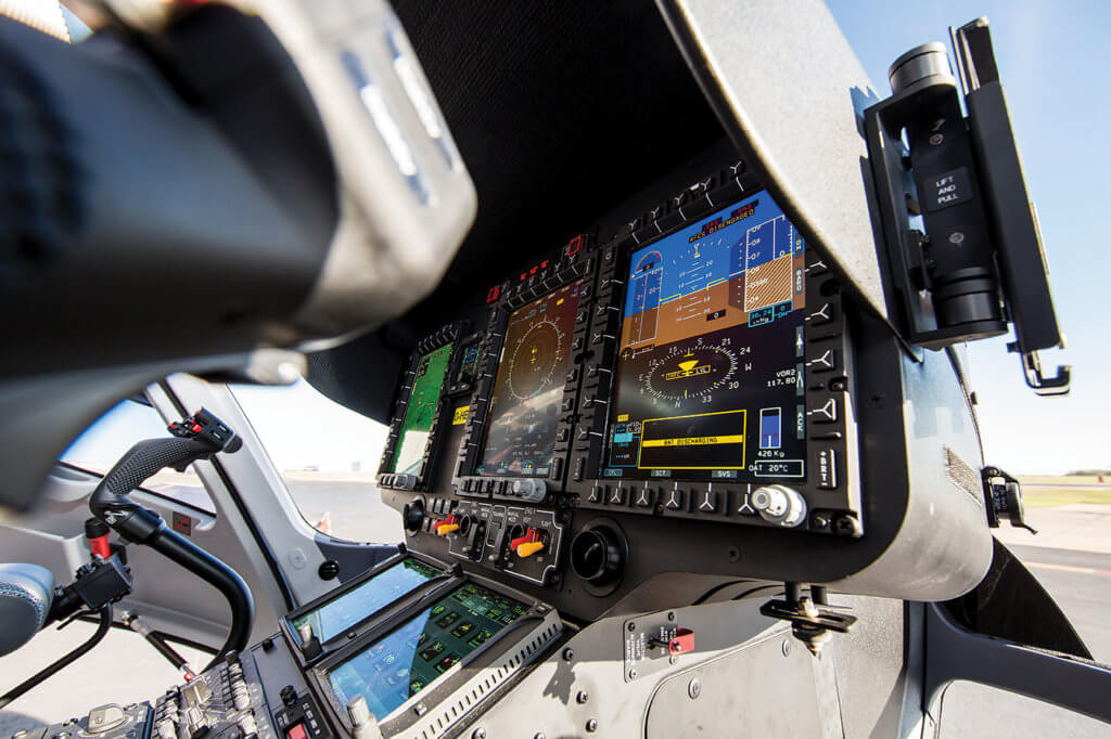 Closeup of cockpit