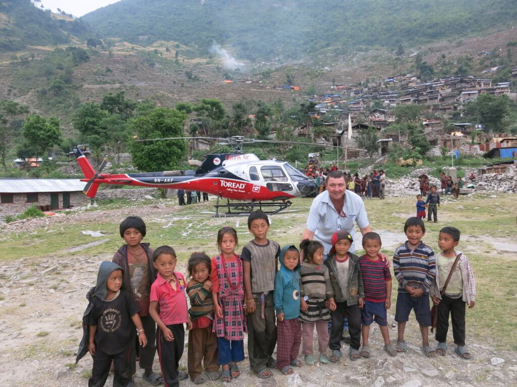 For many foreign pilots who have flown in Nepal, including New Zealand pilot Jason Laing, building relationships with the Nepalese people is one of the most rewarding aspects of working in the country. Photo courtesy of Jason Laing