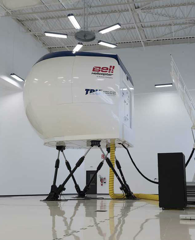 The Bell 429 full flight simulator uses TRU Simulation + Training's Odyssey H platform and has been certified at Level D by the FAA and EASA. Lloyd Horgan Photo