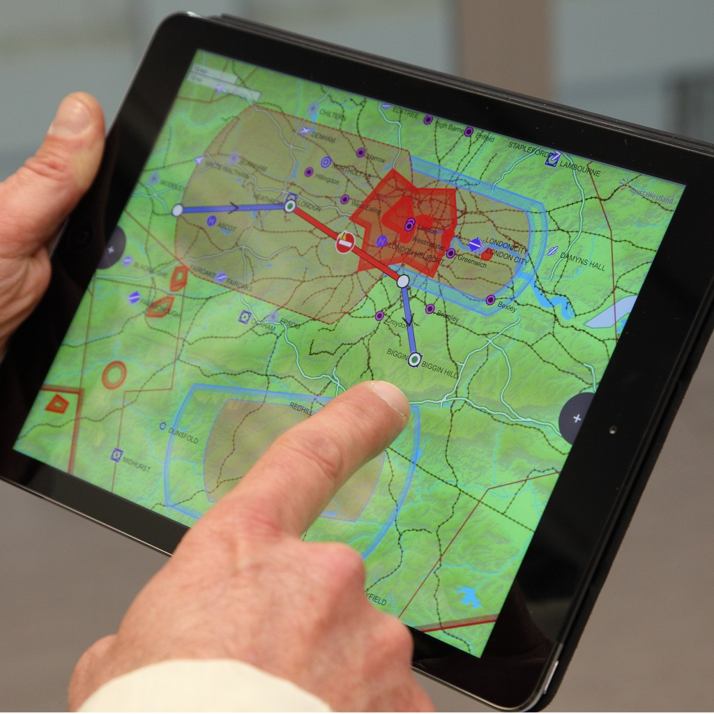 The latest features of the Skyflight mobile flight planning service are currently available for the AW139.