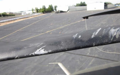 A drone collided with a U.S. Army Sikorsky UH-60 helicopter, damaging it rotor blades. U.S. FAA Photo