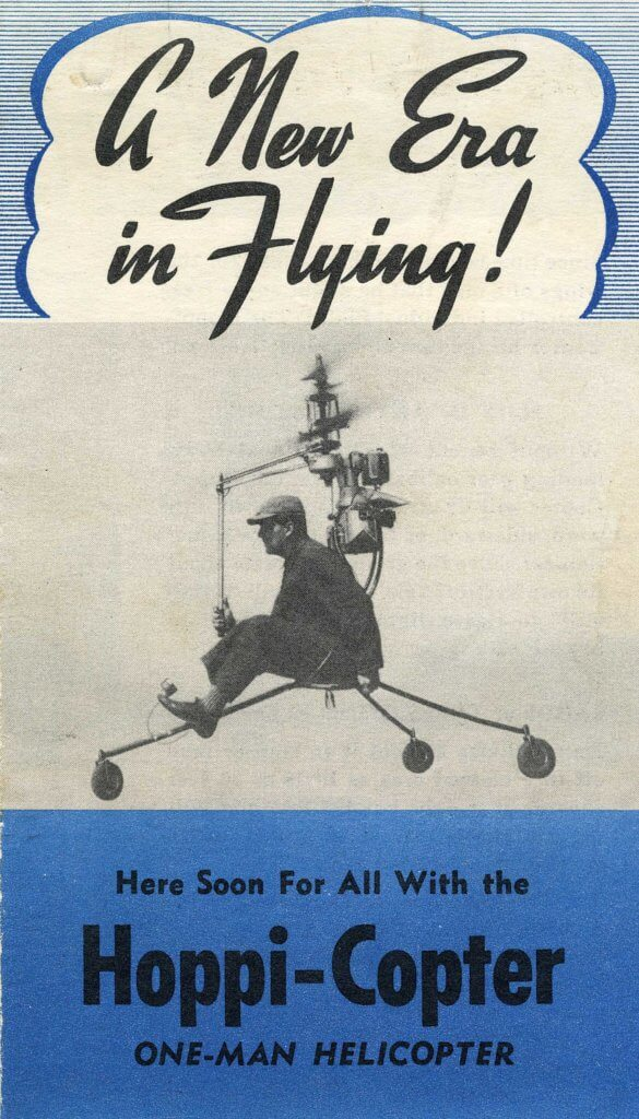 An early brochure for the Pentecost Hoppi-Copter. Jeff Evans Collection Photo