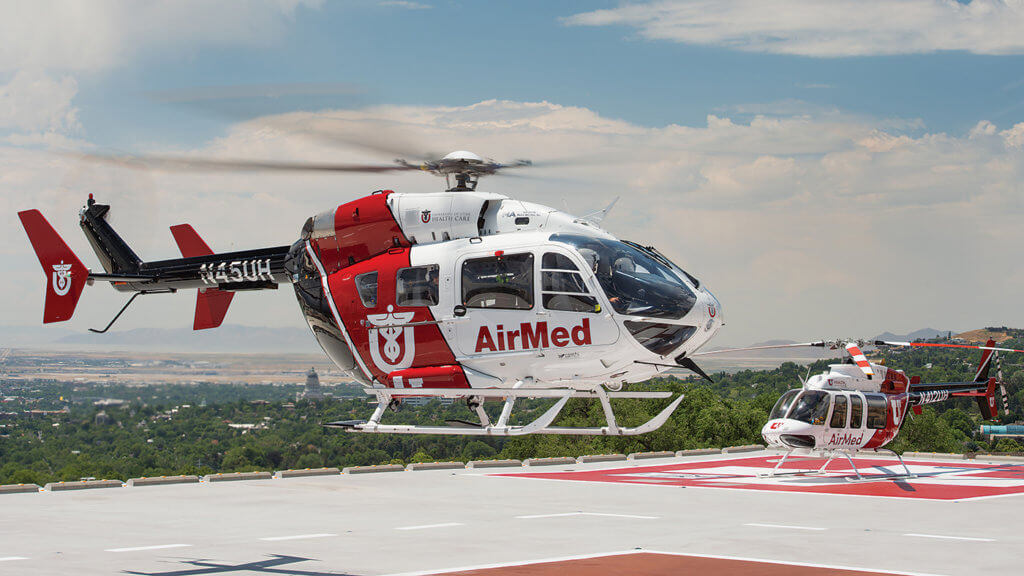 AirMed's EC145 was acquired in 2012 to replace an aging Bell 430. The primary missions for the EC145 are high-risk obstetric and neonatal cases. Dan Megna Photo