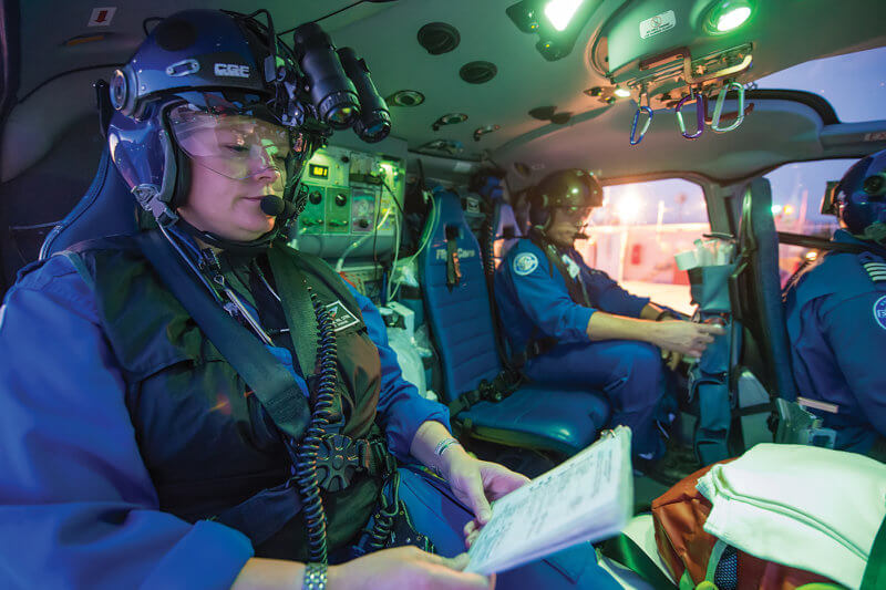Medical crewmembers are already accustomed to double-checking each other's work. Many would be happy to help back up their pilots as well. Dan Megna Photo