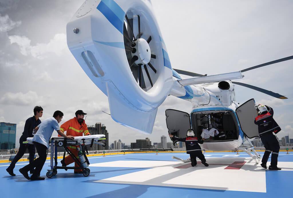 A subsidiary of Thailand's largest healthcare provider, Bangkok Dusit Medial Services, Bangkok Helicopter Services is Thailand's first and still only provider of helicopter emergency medical services. Anthony Pecchi Photo
