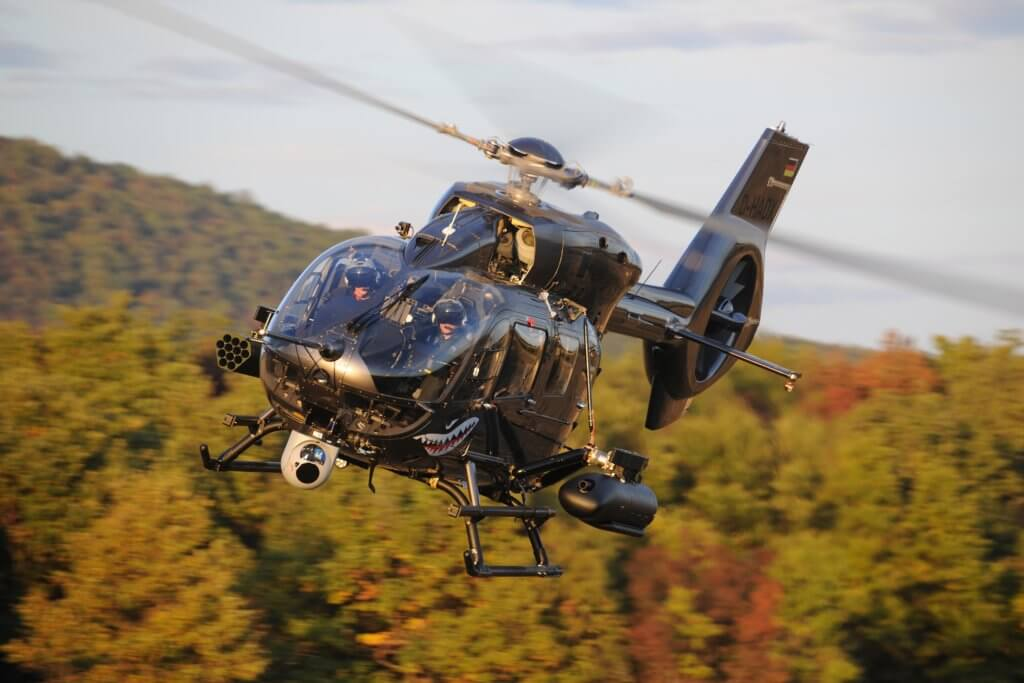 The H145M is an agile, light attack helicopter, which has now clocked up more than 80,000 flight hours. Anthony Pecchi Photo