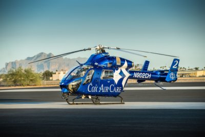 The MD 902 offers improved safety, a larger cabin, smoother flight, and a reduced noise profile versus other helicopters in its class. MD Helicopters Photo