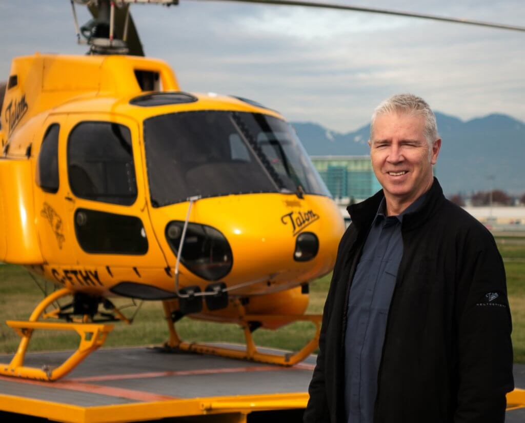 Murray ensures Talon Helicopters maintains a 24/7 search-and-rescue response position answering the call to assist with more than 100 rescue operations annually, throughout the Lower Mainland of British Colombia. Talon Helicopters Photo