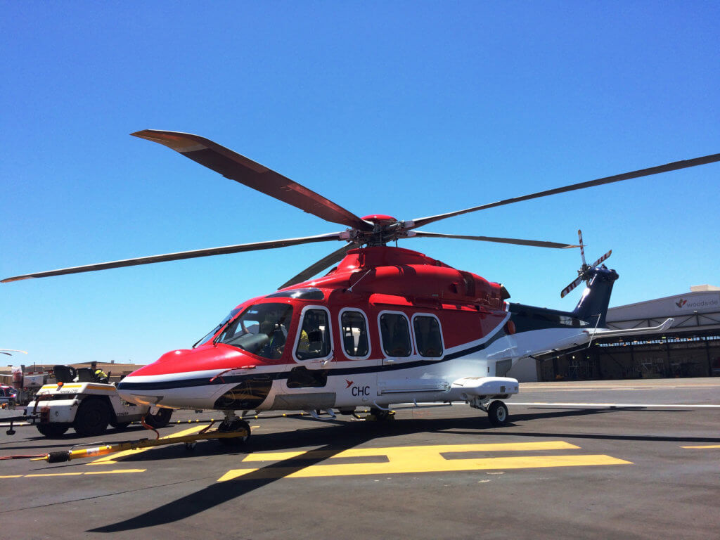 CHC will lease an AW139 helicopter that will be based out of Western Australia and configured for offshore operations. Lobo Leasing Photo