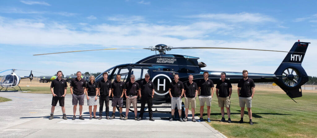 Crews from Christchurch Helicopters were among the first to arrive in Kaikoura, New Zealand, a seaside tourist community that was completely cut off from the rest of the country, after a 7.8 magnitude earthquake hit South Island. HAI Photo
