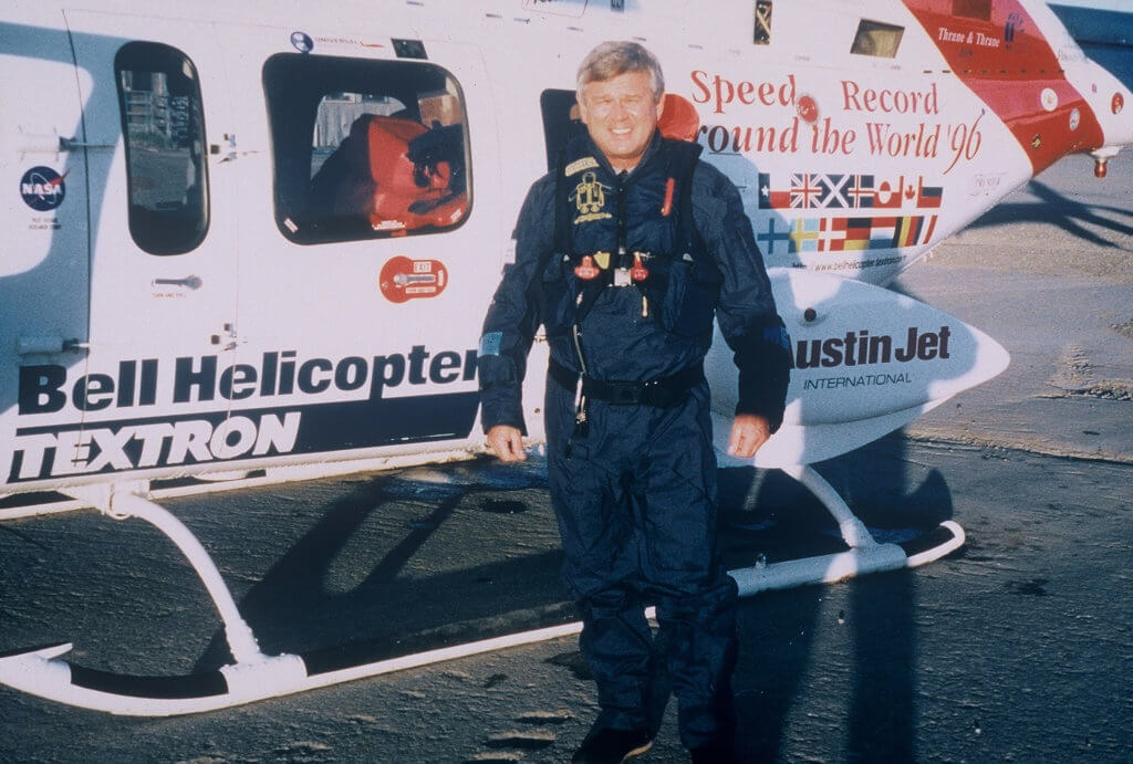 is a lifetime member of the Society of Experimental Test Pilots and was president of the Helicopter Club of America.