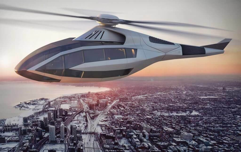 The FCX-001 was inspired by the concept cars produced by automobile manufacturers for major auto shows. Bell Helicopter Image