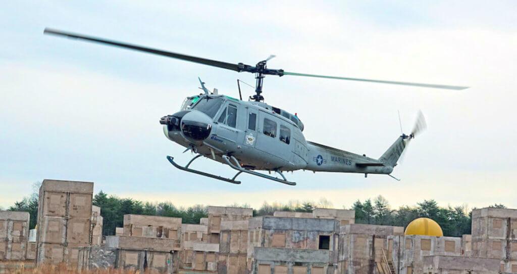 Aurora demonstrates a fully autonomous UH-1H at Marine Corps Base Quantico.