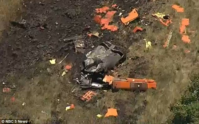 The aircraft crashed near Italy, Texas, while performing a high-speed test simulating an engine failure. NBC 5 News Photo