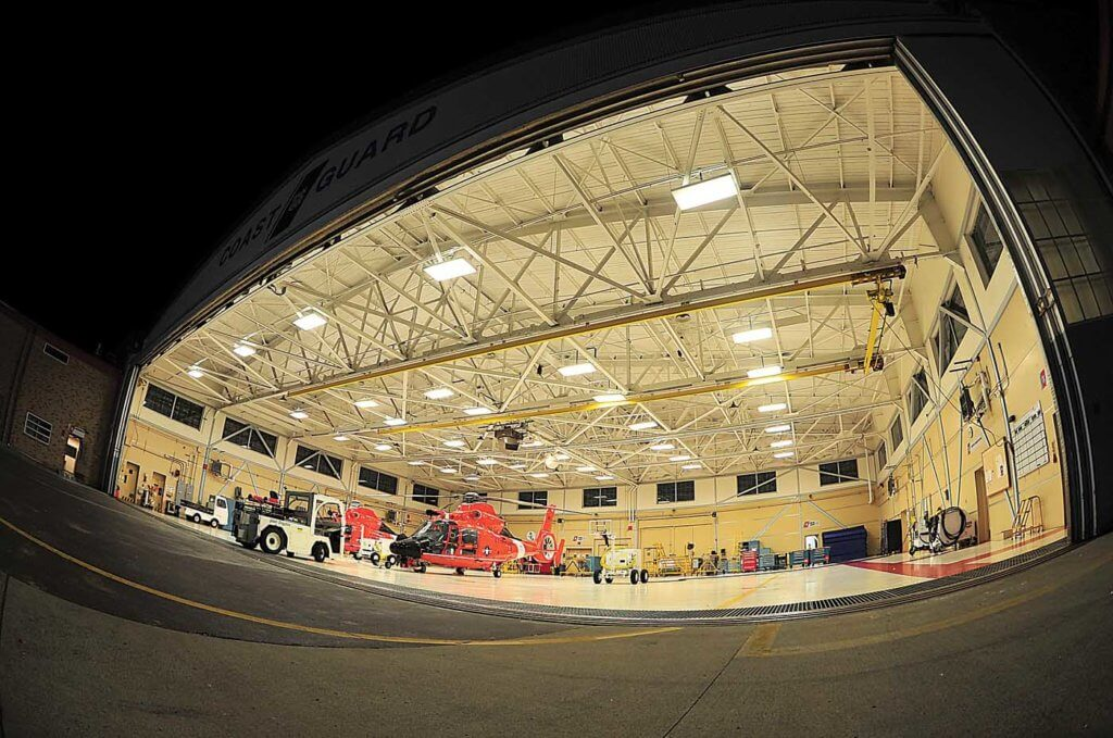 The base's cavernous hangar keeps the aircraft dry during the wet winter months. Skip Robinson Photo