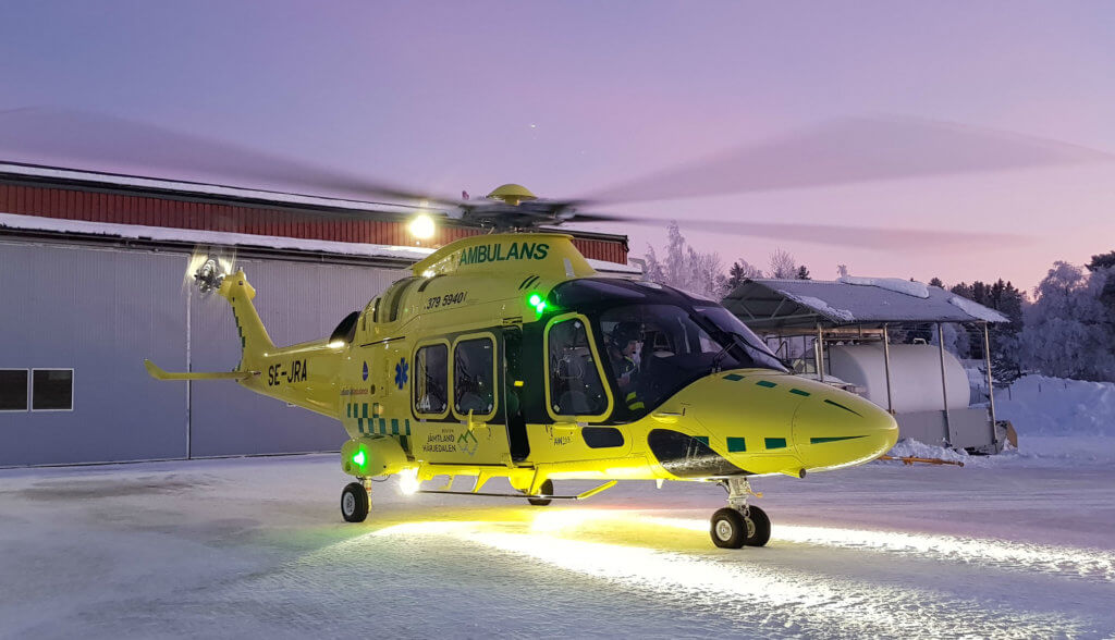 The AW169 replaces the former AS365 Dauphin that Babcock Scandinavian AirAmbulance has flown since 2006. Johan Rydham Photo