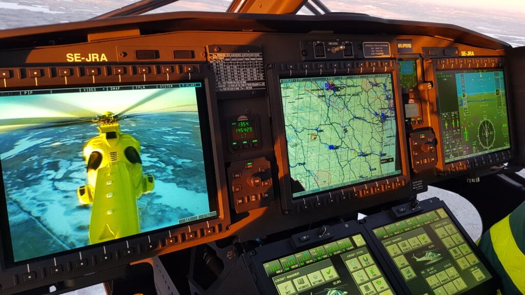 At the front of the cockpit, the AW169 offers better situational awareness while allowing more advanced automation.