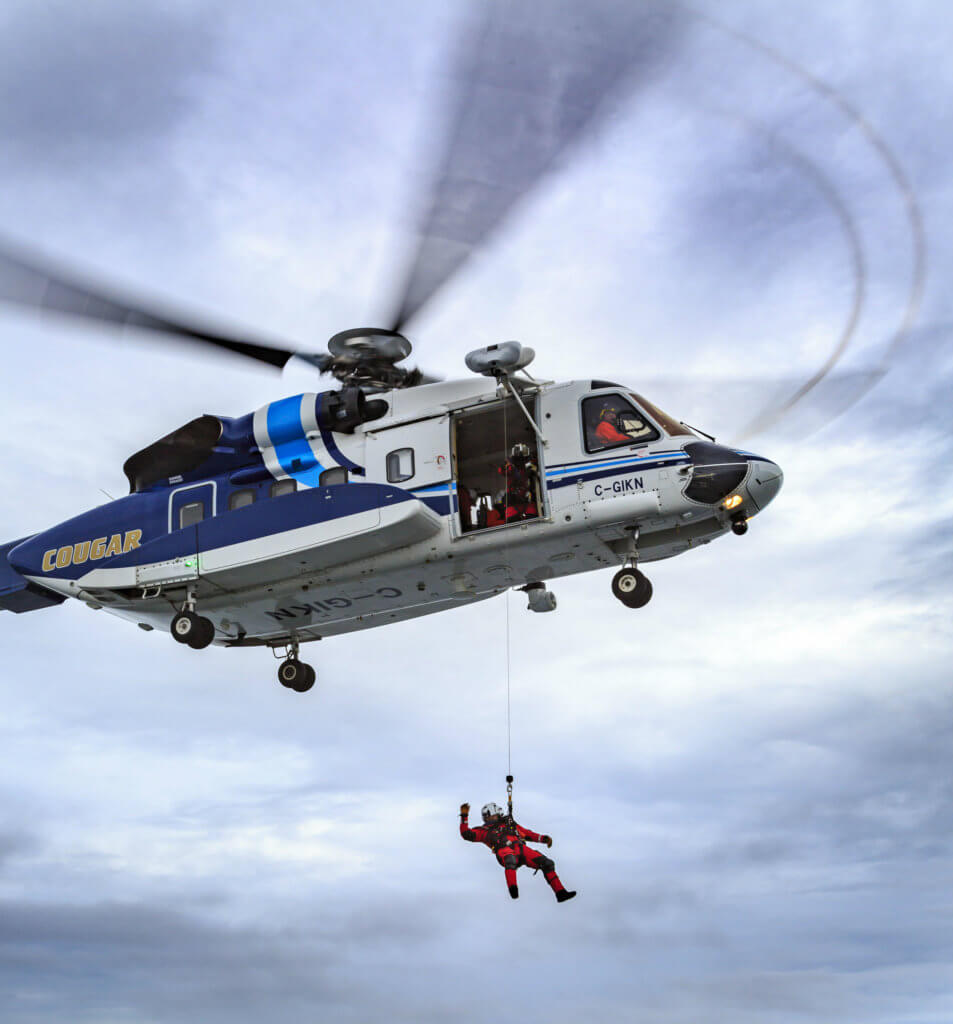 The multi-mission S-92 aircraft is the preferred aircraft of its size class for offshore oil worker transportation and search-and-rescue. Heath Moffatt Photo