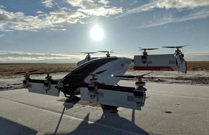 Vahana eVTOL aircraft on the test pad in Pendleton, Oregon. Vahana Project Photo