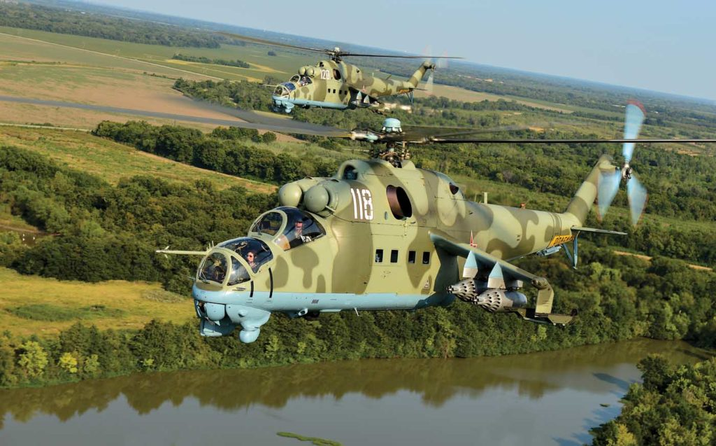 Unlike most Western helicopters, the Mi-24D does not have a torque gauge. Power limits are defined by engine N1, turbine inlet temperature, and relative engine pressure ratio. Skip Robinson Photo