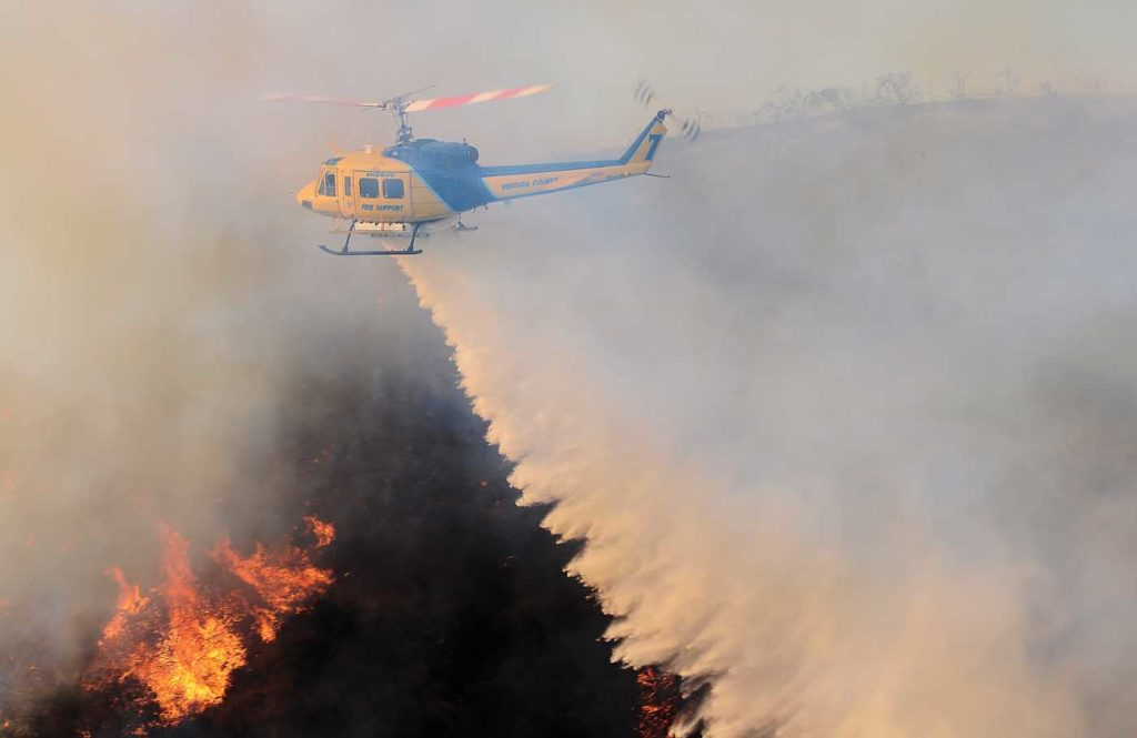 In describing the fire behavior over the first few days, Ventura County pilot Alex Keller said,