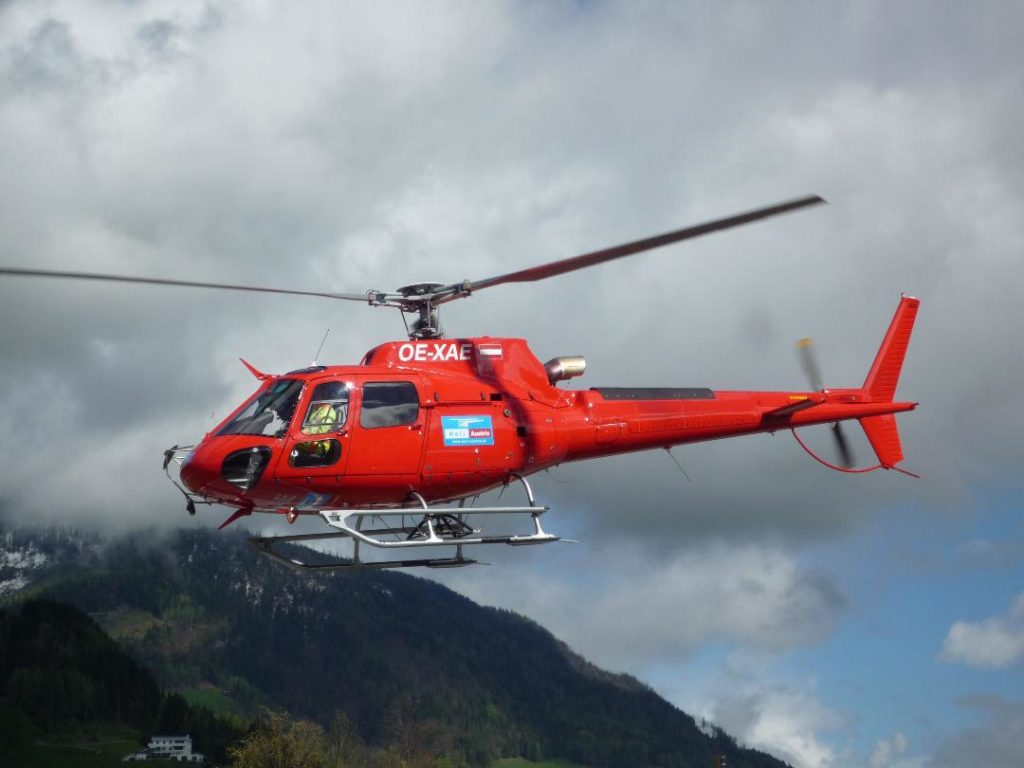 A Heli-Austria H125 flies with the BLR FastFin system. Heli-Austria will become the first operator to receive an H125 equipped with the FastFin system from the factory. BLR Photo